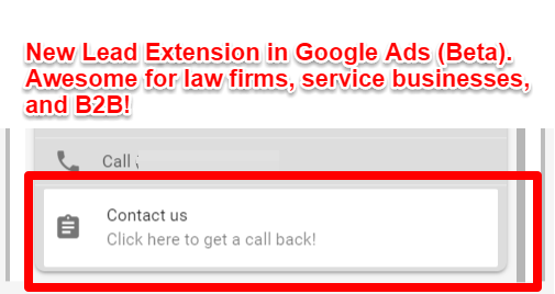 Google Ads Lead Extension